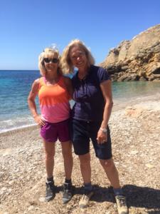 Cathrine Schuck ansvarar för den goda maten/matlagningen och jag för den superbra träningen